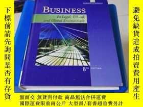 二手書博民逛書店BUSINESS:Its罕見Legal,Ethical,and