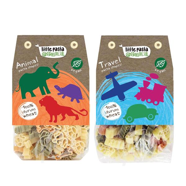 英國 little pasta 小小帕斯達 造型兒童義大利麵 交通工具/動物