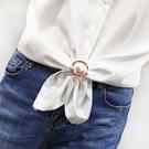 胸針 高檔衣角打結扣韓版胸針女別針固定衣服創意百搭裝飾下擺絲巾扣
