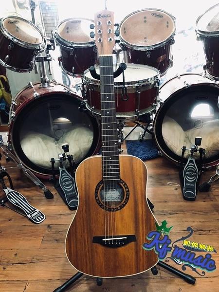 凱傑樂器 SOLDIN SA-3430 旅行 民謠吉他 34吋 含琴袋