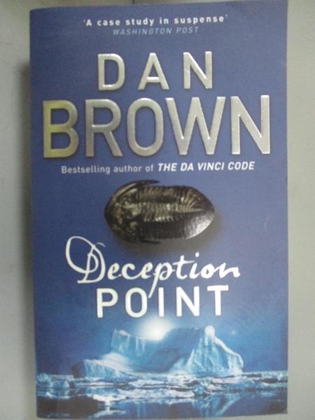【書寶二手書T6/原文小說_G5Q】Deception Point_Dan Brown