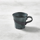 日本美濃燒 - 寬口茶杯 - 燻刷痕
