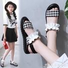 后魔術貼女童涼鞋新款一鞋兩穿兒童涼鞋小學生時尚女孩中大童涼鞋 科炫數位