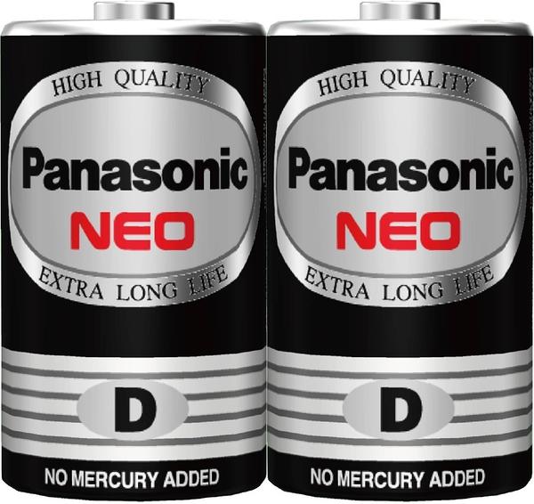 國際牌Panasonic 黑錳電池 1號 2入