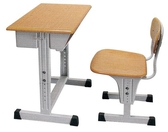 HY-Y197-5 可調式課桌椅(原木色/整組)/補習桌椅/書桌椅