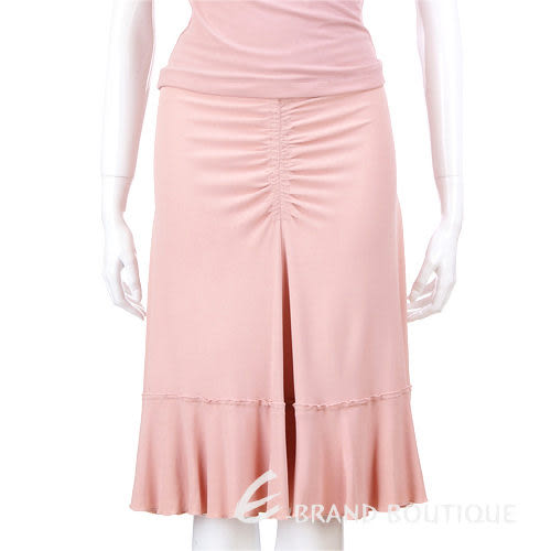 MOSCHINO 皺褶設計及膝裙(粉色) 0520794-05