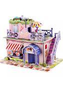 【4枚入】兒童益智3D立體拼圖紙質房子模型玩具【奈良優品】