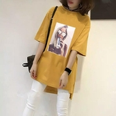 【免運】大碼女裝胖mm妹妹夏裝新款中長款寬鬆遮肚上衣短袖T恤200斤打底衫