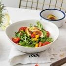 餐盤 ijarl億嘉 創意北歐陶瓷水果沙拉碗 簡約大號面碗家用菜碗錫蘭島 ATF 夏季狂歡