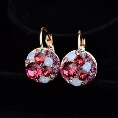 耳環 925純銀水晶-小巧時尚生日情人節禮物女耳針4色73gt228【時尚巴黎】
