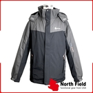 【North Field 美國 男 防水兩件式羽絨外套《黑/深鐵灰》】8NDGM30181/防水/防風/透氣/羽絨外套/保暖