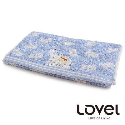 里和Riho LOVEL樂活小象精梳棉無撚紗毛巾 33x76cm 3色可選