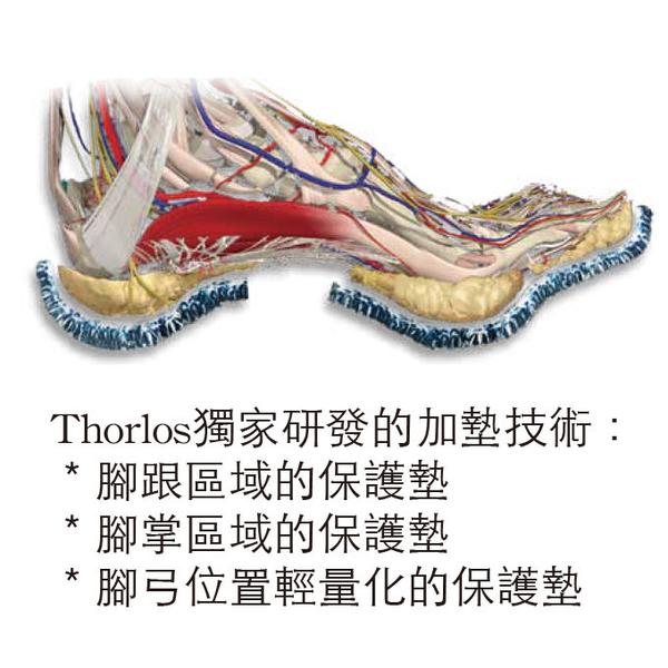 【速捷戶外】美國 Thorlos KX 厚底登山健行襪(男款)-深藍 登山/賞雪/保暖襪