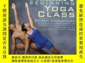 二手書博民逛書店BIKRAM S罕見BEGINNING YOGA CLASS (比克拉姆瑜伽課)英文原版 簽贈本Y351358