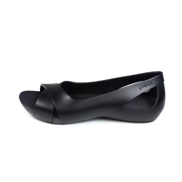 Crocs serena flat 休閒鞋 平底鞋 黑色 女鞋 206106-001 no015