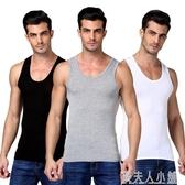男士背心純棉運動潮牌白跨欄修身型大碼無袖t恤青年夏季打底健身「錢夫人小鋪」