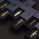 個性創意金色男士商務領帶夾 正裝新郎結婚領夾禮盒裝 降價兩天