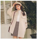 韓版學生毛呢外套女冬中長款2018冬季新款流行呢子大衣外套秋冬款「爆米花」