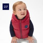 Gap男嬰兒 休閒連帽棉服背心 473873-摩登紅色