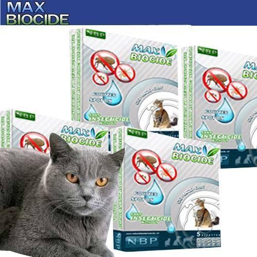【培菓幸福寵物專營店】西班牙NBP》天然貓用驅蝨滴劑 (5劑入)無藥劑殘留