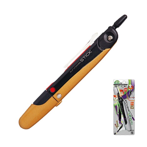 圓規 日本SONIC SK-789中小學指定專用筆夾收針圓規-金【文具e指通】 量販團購