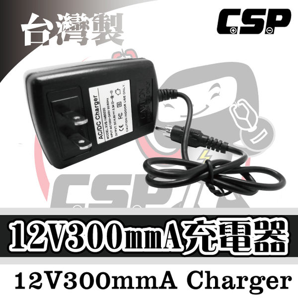 12V300mmA 兒童電動機車充電 兒童電動摩托車充電12V電池充電