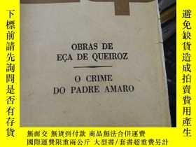二手書博民逛書店O罕見CRIME DO PADRE AMAROY24040 OBRAS DE EÇA DE QUEIROZ E