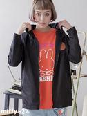 【2%】miffy X 2% 連帽立領防水風衣外套-黑