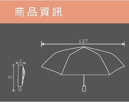 超大137公分素面自動開收晴雨傘-雙人傘親子傘-防風傘-青色