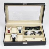 【春季上新】 韓國公主創意高檔手錶盒子收納盒家用太陽眼鏡首飾品展示禮品盒