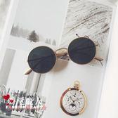 圓形復古中國有嘻哈墨鏡男士網紅眼鏡太陽鏡女 全店88折特惠