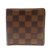 路易威登 LOUIS VUITTON LV 棋盤格兩折式短夾 Marco N61675  【BRAND OFF】