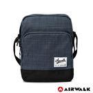 AIRWALK 紳士細格休閒斜背包 -灰色 A825300110