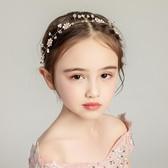 兒童發飾女童頭飾公主發箍手工花童禮服配飾女孩頭箍韓版甜美花環