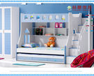 【大熊傢俱】958 藍色款 雙層床 上下層床 子母床 兒童床 青少年床 書櫃床