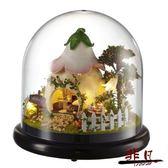 父親節禮物DIY小屋普羅旺斯摩天輪玻璃球手工模型拼裝房子音樂盒八音盒別墅【非凡】TW