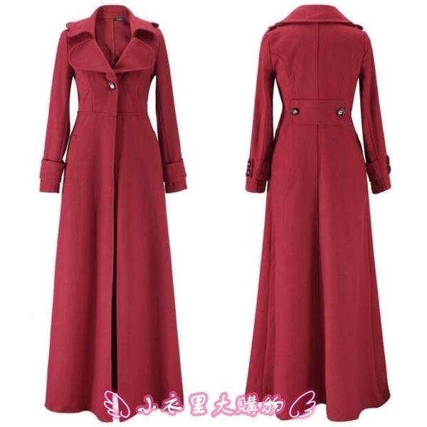 風衣外套 加長款女士時尚風衣外套Add a long style trench coat for women - 小衣里大購物