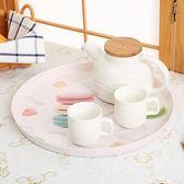年終慶85折 希爾歐式圓形托盤仿瓷塑料托盤茶盤水杯茶杯托盤餐具快餐盤水果盤 百搭潮品