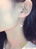 網紅耳環精致超美鑲水鉆蝴蝶結氣質耳釘耳墜女【聚可愛】