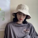 韓版漁夫帽子女春夏出游網紅款ins遮陽太陽帽子字母刺繡防曬盆帽 陽光好物
