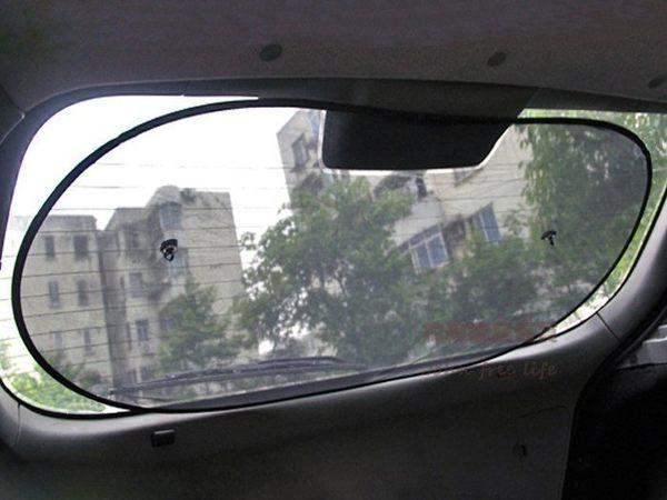 約翰家庭百貨》【Q320】汽車後車窗遮陽板 黑色網紗車用後窗太陽擋 後擋 夏季防曬