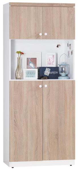 【森可家居】小北歐2.6尺鞋櫃 7JX273-2 木紋質感 玄關收納櫃 北歐鄉村風