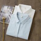 秋裝新款外穿白襯衫女士純棉打底衫內搭襯衣圓領長袖上衣韓版職業