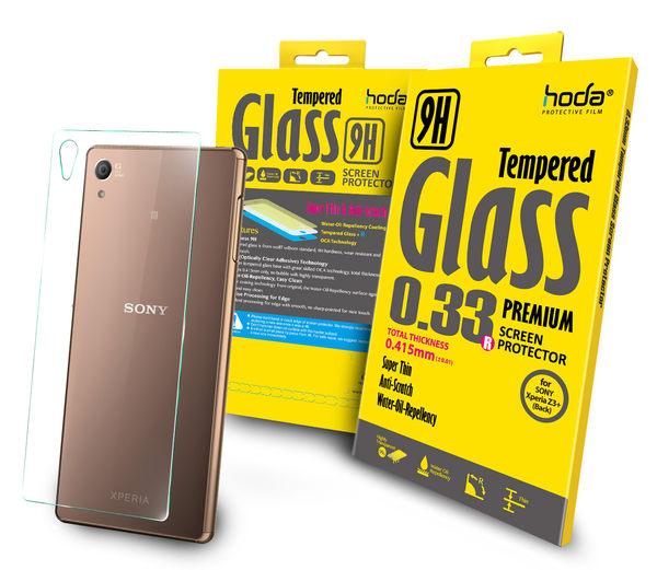 【hoda官方賣場】【Sony Xperia Z3+】2.5D高透光9H鋼化玻璃保護貼(背面)