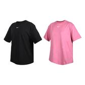NIKE 女短袖T恤(純棉 休閒 慢跑 上衣 寬版 圓領 棉質≡體院≡ CT2588