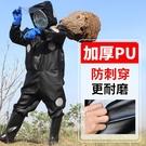 馬蜂服加厚專用抓胡蜂連體防蜂衣全套透氣耐磨帶風扇胡峰防護衣服【快速出貨】