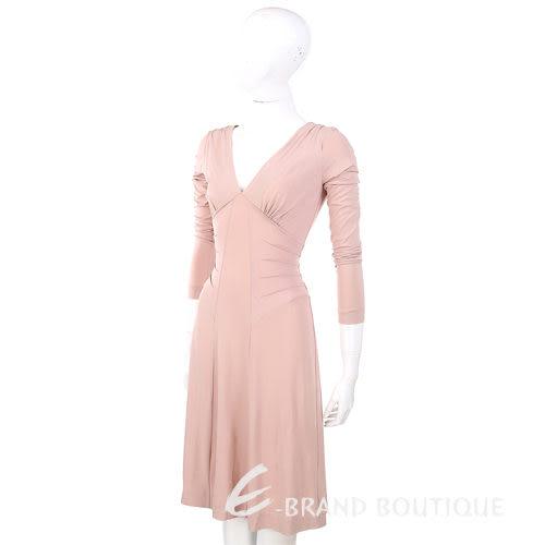 PHILOSOPHY 粉膚色V領長袖洋裝 0940170-32
