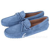 TOD'S GOMMINO 藍色麂皮綁帶豆豆休閒樂褔鞋(男) 1240500-27