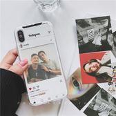 雙十一返場促銷韓國截圖小卡片搭配蘋果x手機殼iphone7plus/6s透明軟殼7/8情侶款