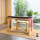 古琴桌 共鳴桐木古琴桌純實木古琴桌琴凳中式古箏桌實木國學書法桌T